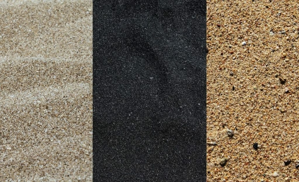 types of sands